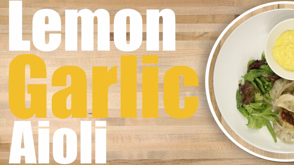 Lemon Garlic Aioli Sauce Recipe Thumbnail